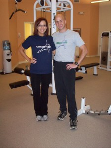Amy and her Personal Trainer, Derek