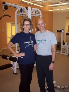 Shellay with CoachMeFit Owner and Personal Trainer, Derek DiGiovanni